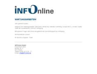 wartung.infonline.de screenshot