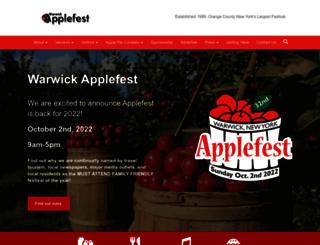 warwickapplefest.com screenshot