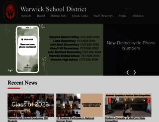 warwicksd.org screenshot
