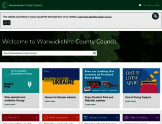 warwickshire.gov.uk screenshot