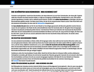 was-schenke-ich.info screenshot