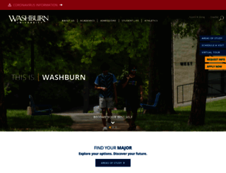 washburn.edu screenshot