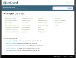 washington-dc.enquira.com screenshot