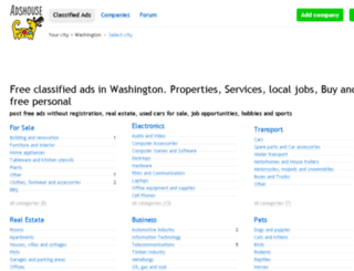 washington.adshouse.org screenshot