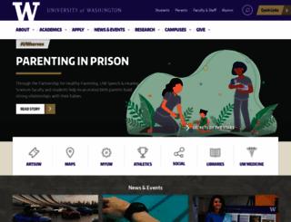 washington.edu screenshot