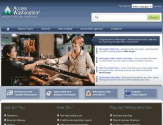 washington.gov screenshot