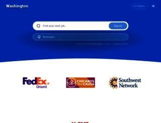washington.jobing.com screenshot