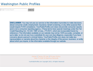 washington.yourpublicprofile.com screenshot