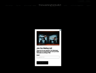 washingtonballet.org screenshot