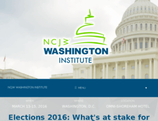 washingtoninstitute.ncjw.org screenshot