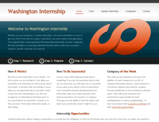 washingtoninternship.com screenshot
