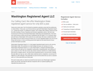 washingtonregisteredagent.net screenshot