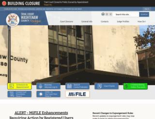 washtenawtrialcourt.org screenshot