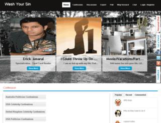washyoursin.com screenshot