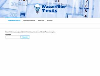 wasserfilter-tests.net screenshot