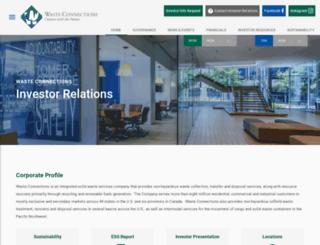 wasteconnections.investorroom.com screenshot