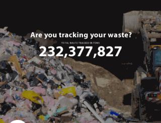 wastetracking.com screenshot