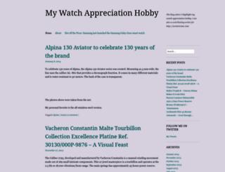 watchcollectionhobby.wordpress.com screenshot