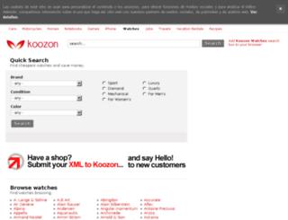 watches.koozon.co.uk screenshot