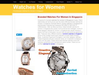 watchesforwomen.insingaporelocal.com screenshot
