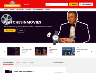 watchesinmovies.info screenshot