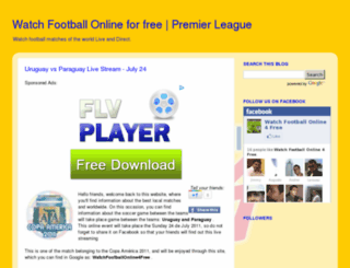 watchfootballonline4free.com screenshot