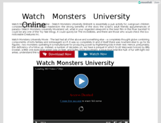 watchmonstersuniversity.moonfruit.com screenshot