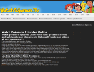 watchpokemon.tv screenshot