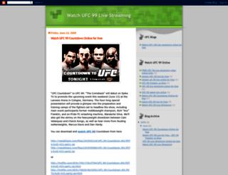 watchufc99live.blogspot.co.at screenshot