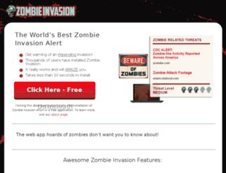 watchzombieinvasion.com screenshot