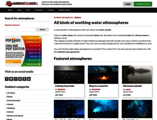 water-atmosphere.ambient-mixer.com screenshot