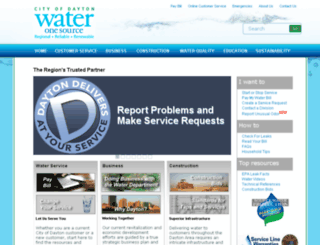 water.cityofdayton.org screenshot