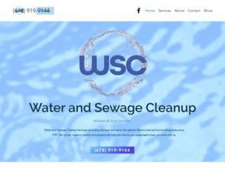 waterandsewagecleanup.com screenshot