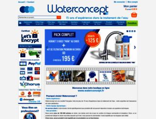 waterconcept.fr screenshot