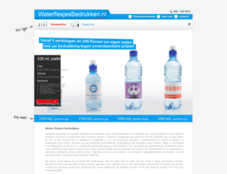 waterflesjesbedrukken.nl screenshot