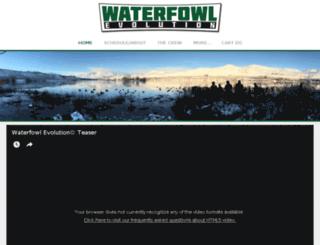 waterfowlevolution.com screenshot