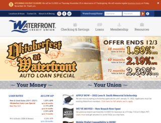 waterfrontfcu.com screenshot