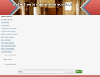 waterheatermaintenance.net screenshot