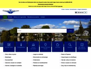 waterland.nl screenshot