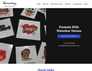 waterlesstattoos.com screenshot