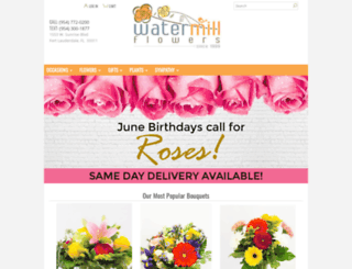watermillflowers.com screenshot