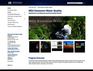 waterquality.montana.edu screenshot