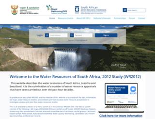 waterresourceswr2012.co.za screenshot