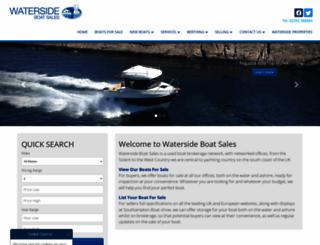 watersideboatsales.com screenshot