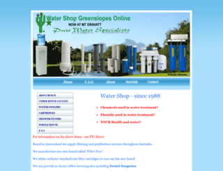 waterspecialist.com.au screenshot