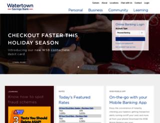 watertownsavings.com screenshot