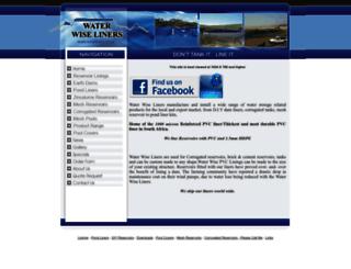 waterwiseliners.co.za screenshot