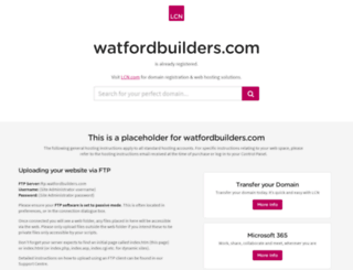 watfordbuilders.com screenshot