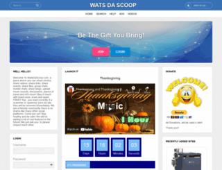 watsdascoop.com screenshot