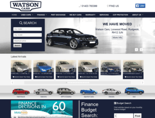 watsoncars.co.uk screenshot
